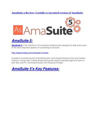 AmaSuite 5 REVIEW & AmaSuite 5 (SECRET) Bonuses