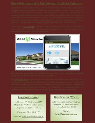 Real Estate App Help In Your Business To Attract Customers