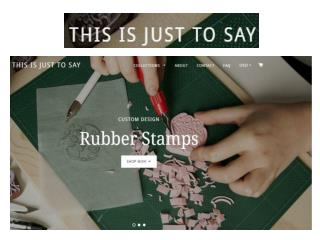 this is just to say | custom rubber stamps and linocuts by Tian Gan