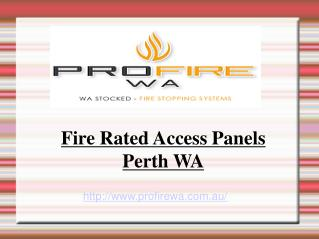 Fire Rated Access Panels - PerthWA