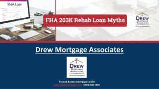 Myths About FHA-203k Rehab Loan