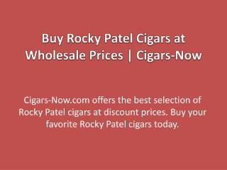 Buy Rocky Patel Cigars at Wholesale Prices