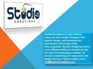 Graphic Design Service in Canada - Studio45creations