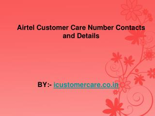 Airtel Customer Care Number Contacts and Details