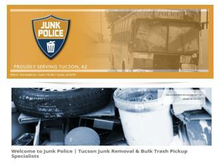 Tucson Junk Removal - Bulk Trash Pickup & Disposal Service | Junk Police
