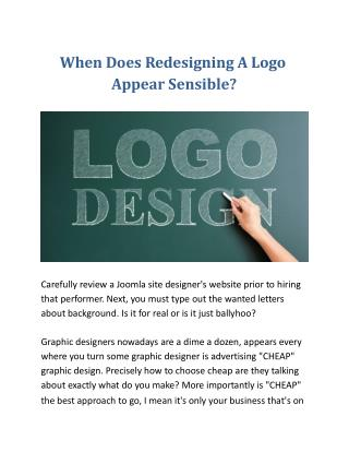 When Does Redesigning A Logo Appear Sensible