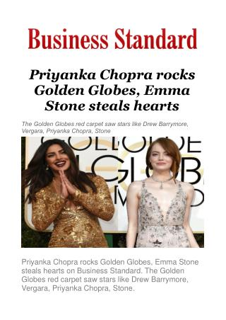 Priyanka Chopra rocks Golden Globes, Emma Stone steals hearts