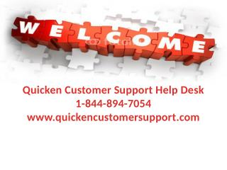 Customer Manual And Help For Quicken | Quicken Customer Support Help Desk @ 1-844-894-7054