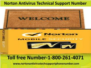 Norton Antivirus Technical Support Number-1-800-261-4071