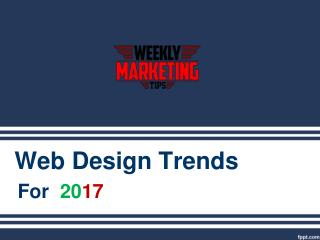 Latest Web Design Trends 2017 | Web Sites Designs Google Trends Show