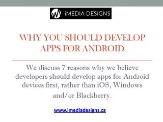 Why you should Develop Apps for Android – Canada