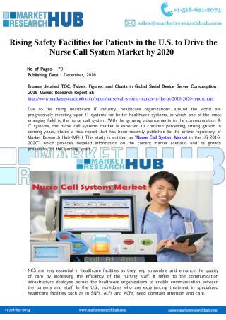 US Nurse Call System Market Report 2016-2020