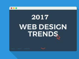 Web Designing Trends of 2017