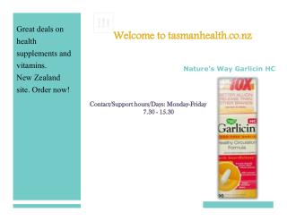 tasmanhealth.co.nz | Nature's Way Garlicin HC