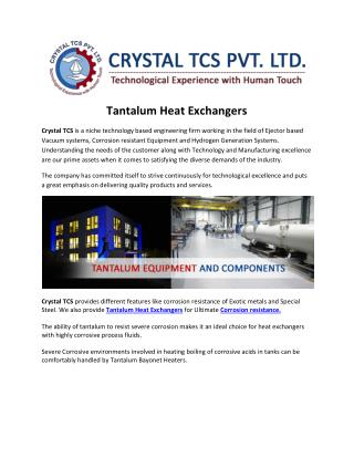 Tantalum Heat Exchangers