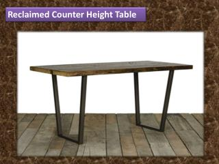 Reclaimed Counter Height Table