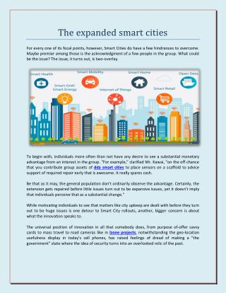 The expanded smart cities