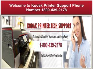 Kodak Printer Help Support Phone Number 1-800-439-2178