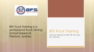 Joining BFS Truck Training is First Step For Being a Successful Truck Driver