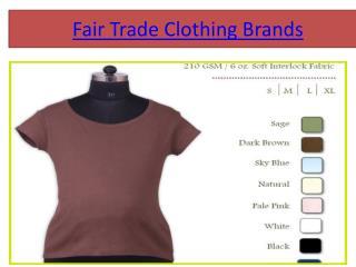 fair trade clothing companies