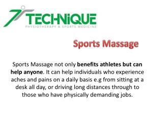 Sports MassageLondon