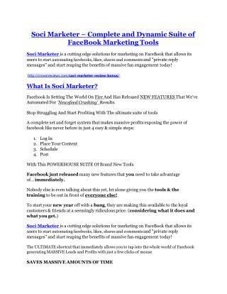 Soci Marketer REVIEW & Soci Marketer (SECRET) Bonuses