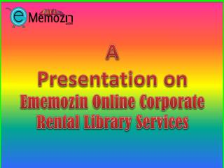 Corporate Library Membership Plan at Ememozin