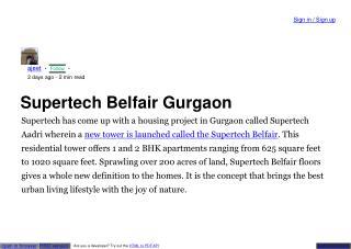 Supertech Belfair floor plan