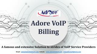 Adore VoIP Billing : A famous and extensive Solution to strides of VoIP Service Providers
