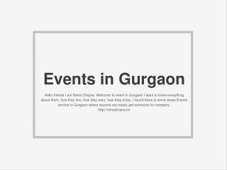 Events in Gurgaon