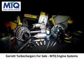 Garrett Turbochargers For Sale - MTQ Engine Systems
