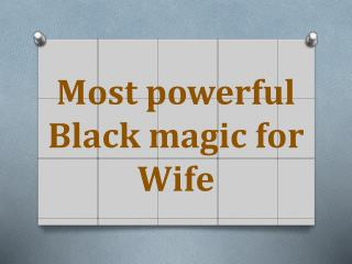 How to do Black magic