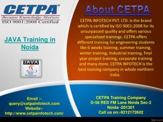 Java Training in Noida