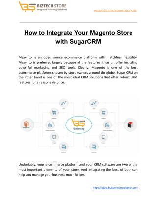 Saas based Magento SugarCRM Integration Solutions