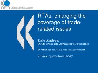 RTAs: enlarging the coverage of trade-related issues