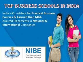 Top business schools in India-NIBE International