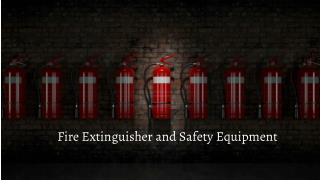Fire Extinguisher and Safety Equipment in UAE