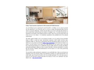 Galaxy Vega Luxurious Apartment In The Location Of Noida Extension