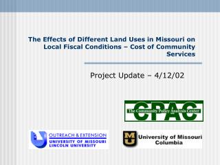 The Effects of Different Land Uses in Missouri on Local Fiscal Conditions   Cost of Community Services