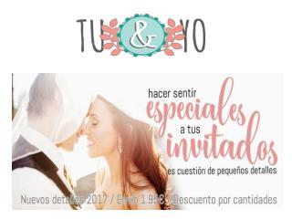 Detalles de boda para invitados. Tu&Yo Shop