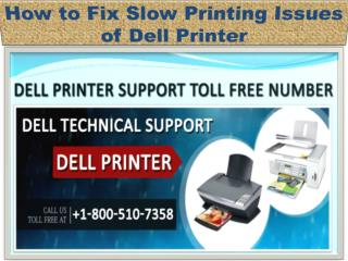 How to Fix Slow Printing Issues of Dell Printer