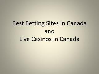 Looking for The Betting Site and Live Casino in Canada