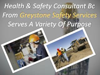 Health & Safety Consultant Bc From Greystone Safety Services Serves A Variety Of Purpose