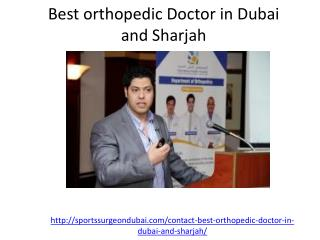 Get the appoinment with the best orthopedic doctor in Dubai and sharjah