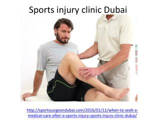 Which is the best Sports injury clinic in Dubai