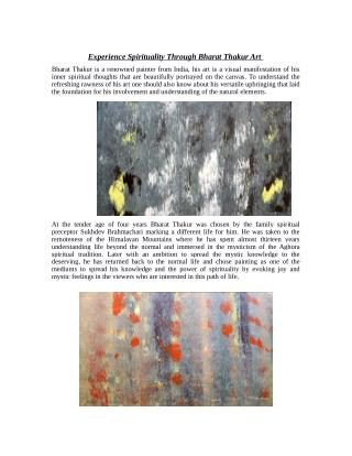 Experience Spirituality Through Bharat Thakur Art