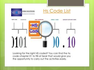 Getting the HS Codes Become Easier at Seair
