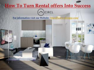 How To Turn Rental offers Into Success