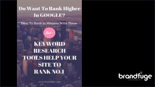 80  Keyword Research Tools Help To Boost Your Website Rank