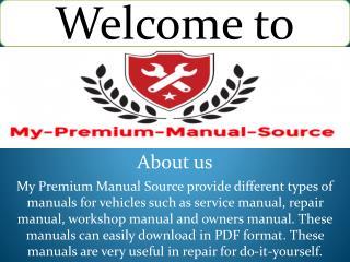 Komatsu service manual